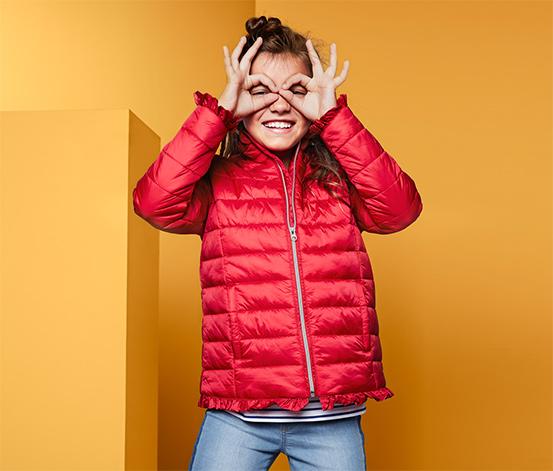 Czerwona kurtka pikowana dziewczęca
