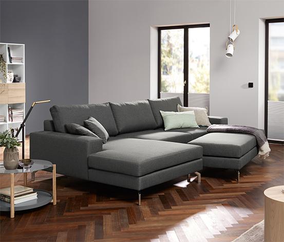 Max-Winzer®-Ecksofa, Longchair rechts, anthrazit