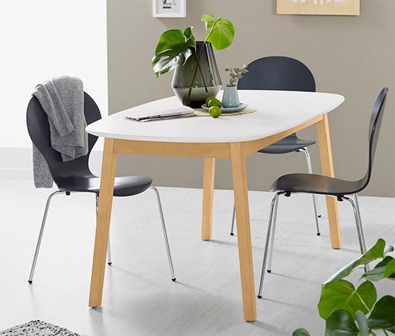 Rozsuwany stół do jadalni, ok. 160/205 x 90 cm