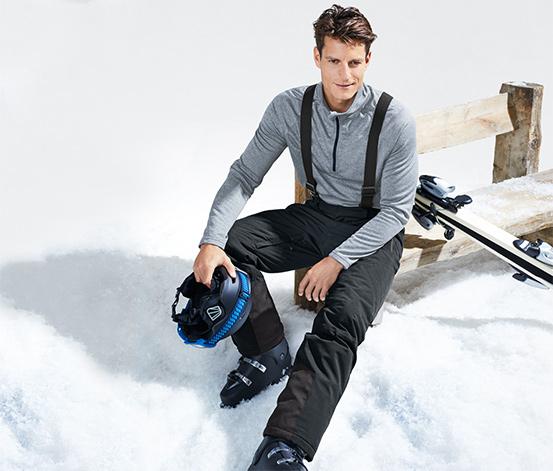 Spodnie narciarskie z softshellu