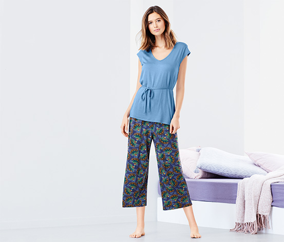 Női pizsama, mintás