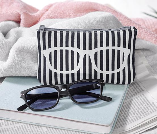 Olvasószemüveg, színezett lencsével, fekete