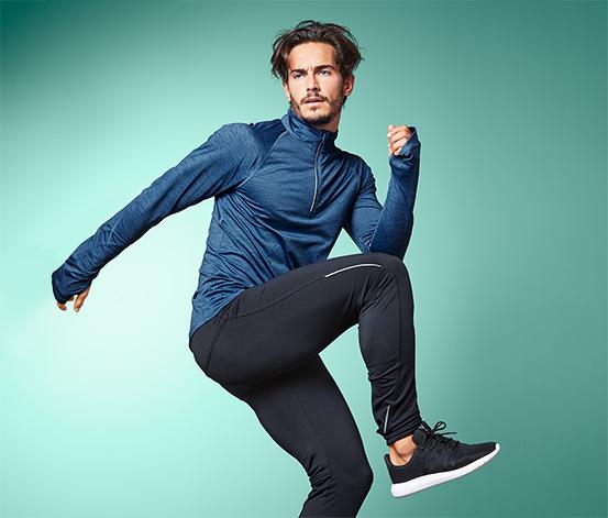 Męska bluza do biegania z długim rękawem