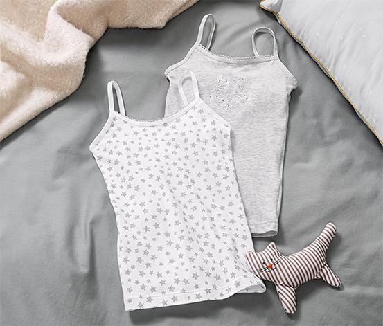 2 lány trikó szettben, szürke/csillagos