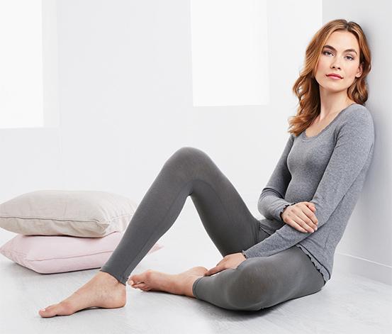 Női hőtárolós leggings, szürke