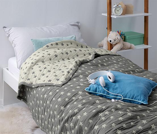 Ágytakaró, kétoldalas, csillagos