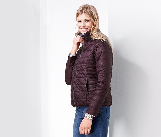 Dwustronna damska kurtka pikowana