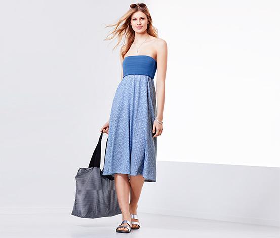Mavi Beyaz Fonksiyonel Elbise