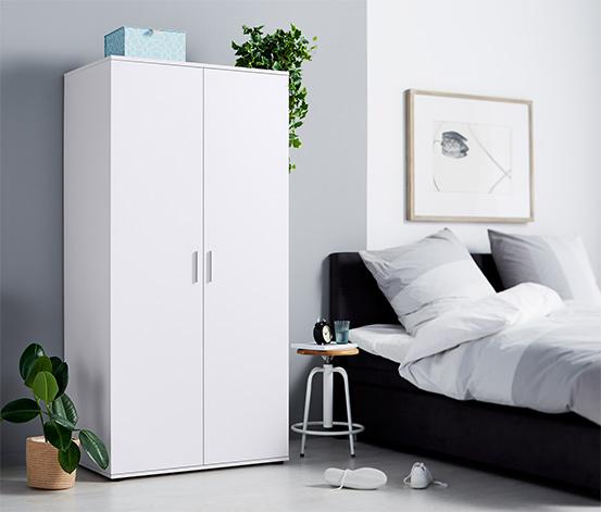 2-drzwiowa szafa na ubrania, ok. 90 cm