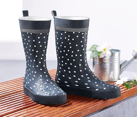 Beyaz Puantiyeli Yağmur Çizmesi