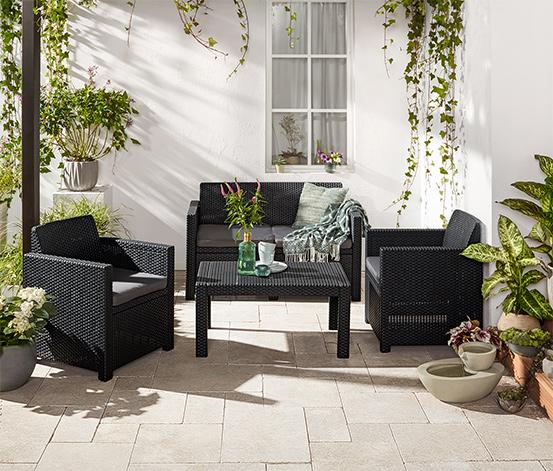 Sada zahradního nábytku ve vyplétaném vzhledu, 4dílná