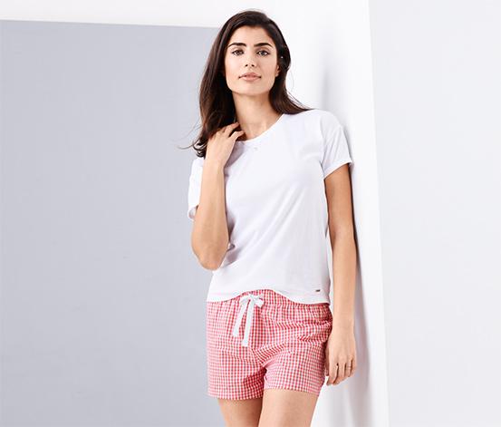 Női rövidnadrágos pizsama, kockás