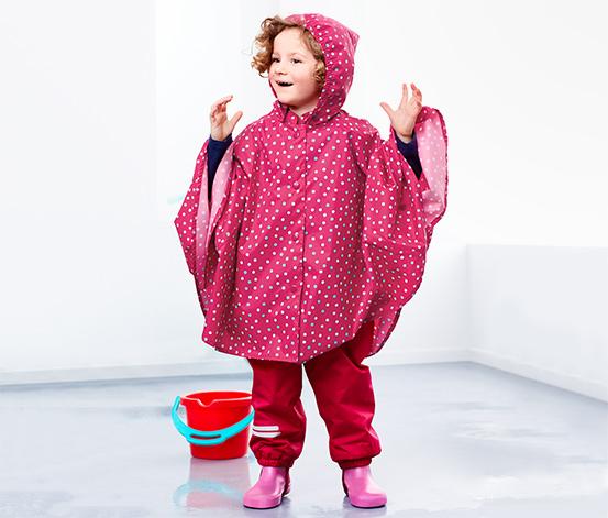 Lányka esőköpeny, rózsaszín, pöttyös