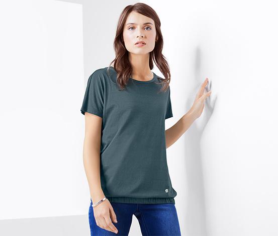 Női rövid ujjú póló, zöld
