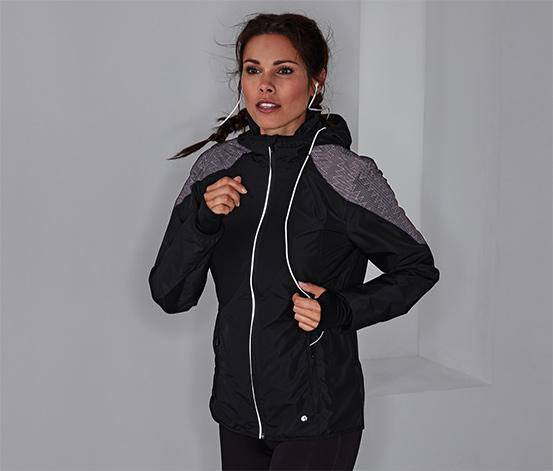 Větruvzdorná běžecká bunda s reflexními prvky