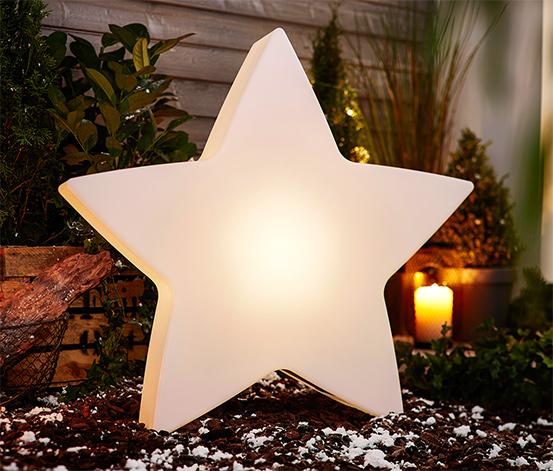 LED-es csillag, nagy, kültéri, napelemes