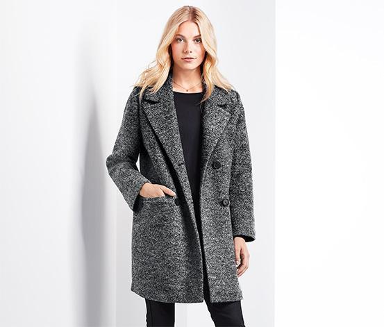 Płaszcz damski z domieszką wełny