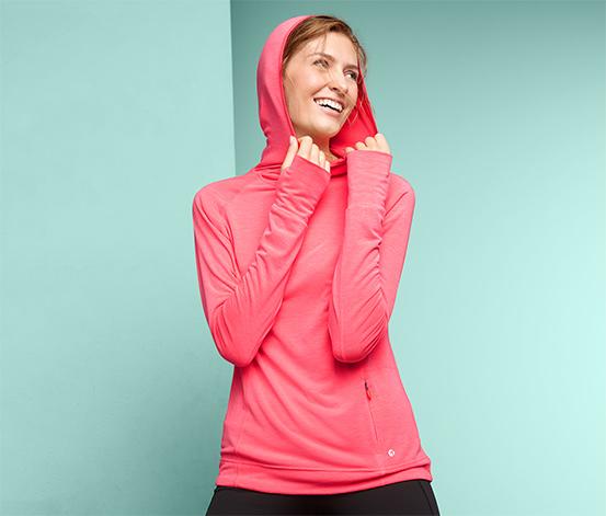 Bežecké tričko s dlhým rukávom a kapucňou