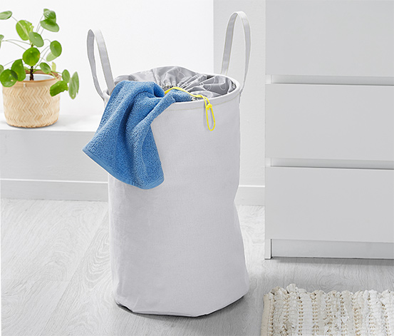 Faltbarer Textil-Wäschekorb