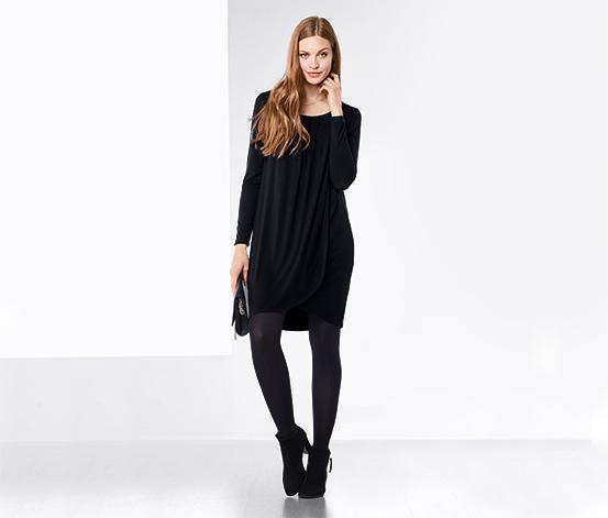 Női húzott ruha, sötétkék