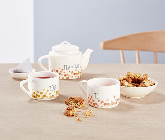 Konvice na čaj se dvěma šálky