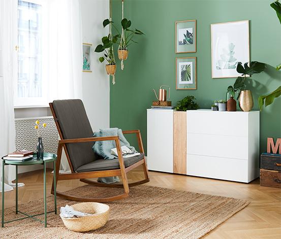 Houpací židle s polstrováním