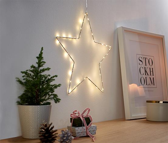 Petite étoile métallique à LED