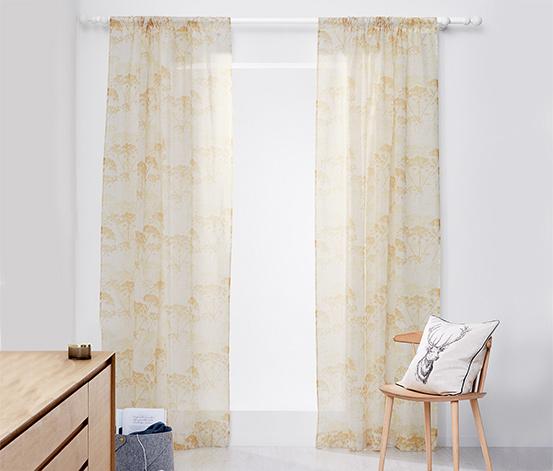 2 átlátszó függöny szettben, virágos