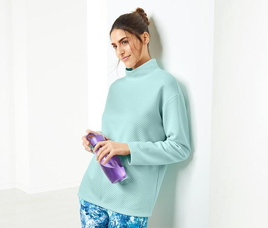 Női pulóver, világoskék