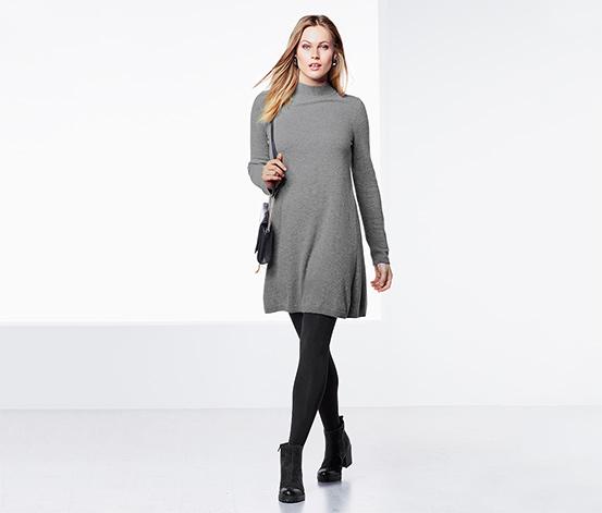 Pletené šaty s kašmírom