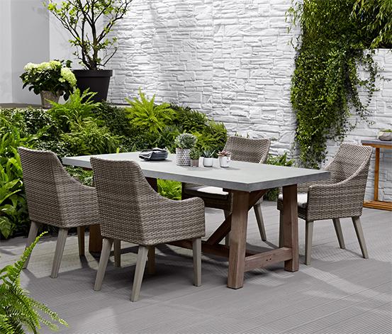 Zahradní stůl v betonovém vzhledu, 2 m