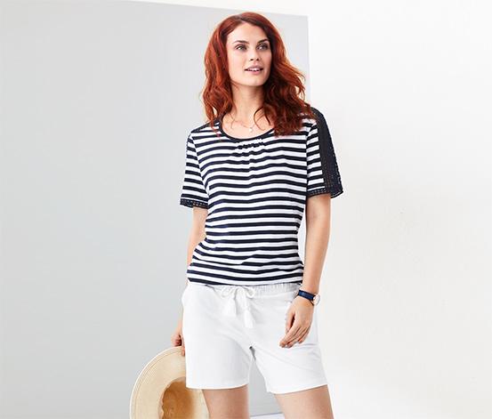 Női jersey rövidnadrág, fehér
