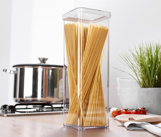 Átlátszó frissentartó doboz, spagettihez