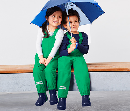 Ciepłochronne spodnie przeciwdeszczowe dziecięce