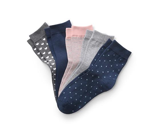 5 pár női zokni szettben