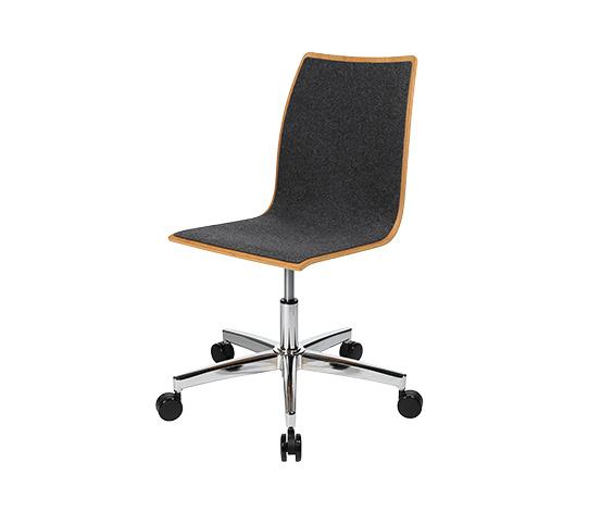 Topstar-Holz-Schreibtischstuhl mit gepolsterter Sitzfläche und Rückenlehne