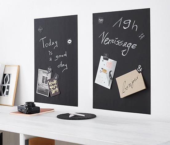Samoprzylepne tablice do pisania kredą, 2 sztuki
