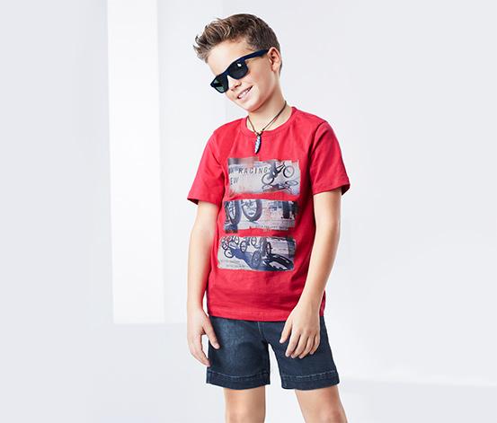 Fiú farmerhatású rövidnadrág