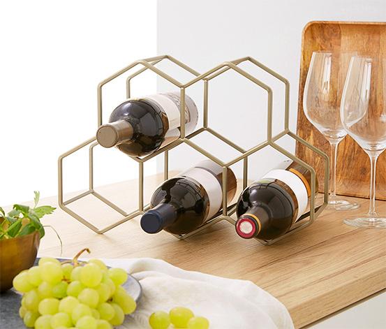Dekoratívny stojan na víno