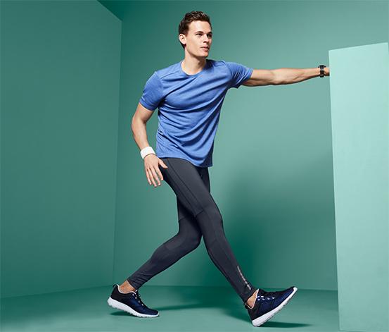 Męskie długie legginsy do biegania