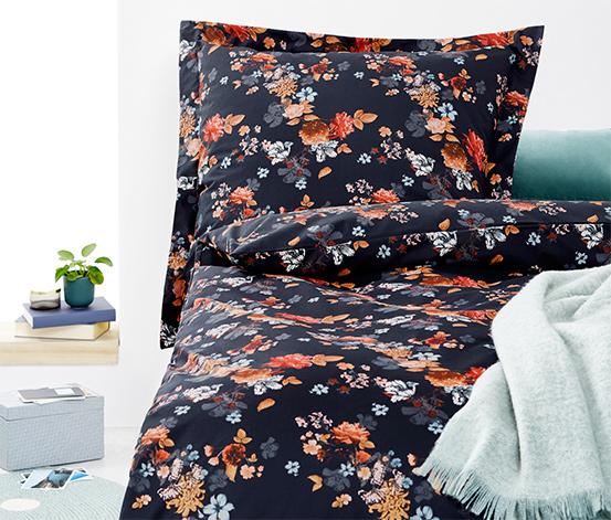 Polycotton ágynemű, virágos, egyszemélyes