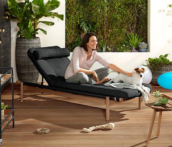 Relaxační lehátko s polstrováním