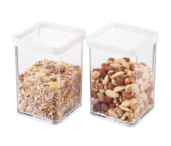 2 transparenta matlådor