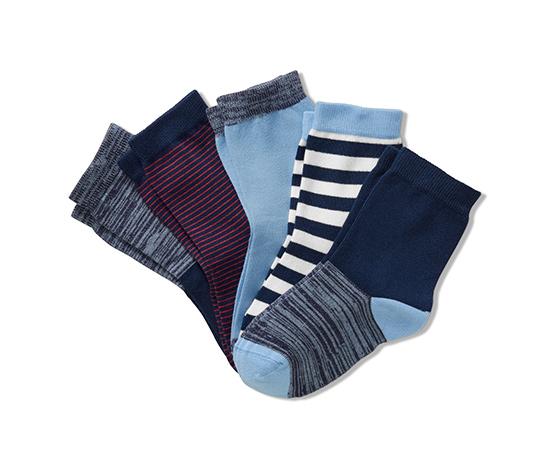 5 pár fiú zokni szettben, kék