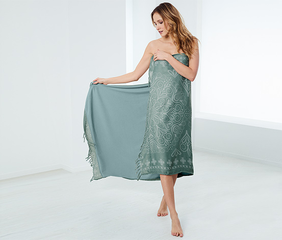 Ręcznik kąpielowy XL 2 w 1 ze stroną z tkaniny frotte