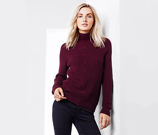 Női pulóver, bordó