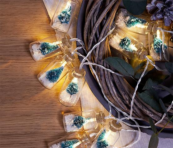 LED-es égősor, 10 karácsonyfa