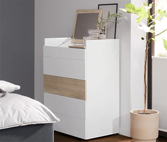 Fiókos szekrény, fehér