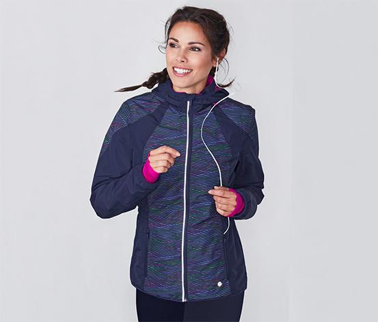 Przeciwwiatrowa damska kurtka do biegania