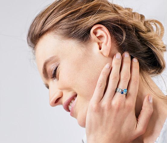 Zestaw pierścionków z kryształami marki Swarovski®